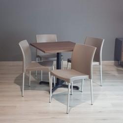 Paquete de 4 sillas vivanti y Mesa 80x80 cm