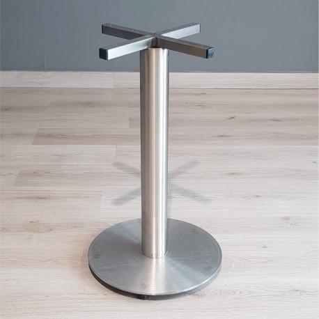 Base pedestal 100% acero inoxidable plato 45 cm