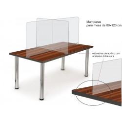 Mampara de acrílico 4 mm para mesa