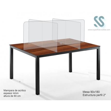 Mesa para comedor industrial