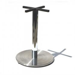 Base pedestal de acero inoxidable diametro