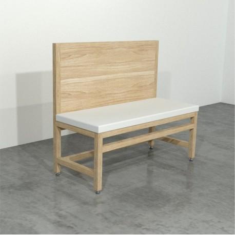 Booth sencillo de madera New