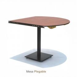 Mesa plegable de 80x80 cm a 105 cm de diametro